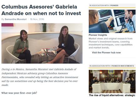 Entrevista de Citywire a nuestra manager de deuda, GabrielaAndrade