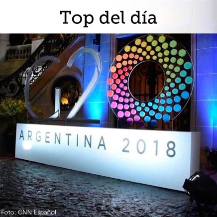 Top del día: Mercados fijan su atención en cumbre de G20 ante temascomerciales