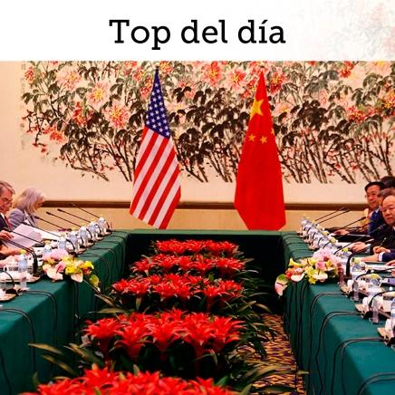 Top del día: Días decisivos en negociaciones comercialesEUA-China